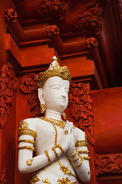 Temple Gate in Chiang Rai, Thailand stock photo