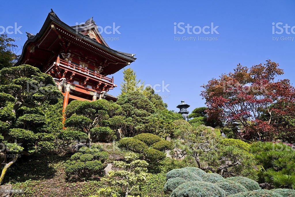 Temple Gate in the Japanese Tea Garden stock photo