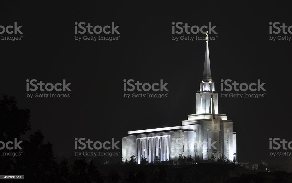 Temple Glow stock photo