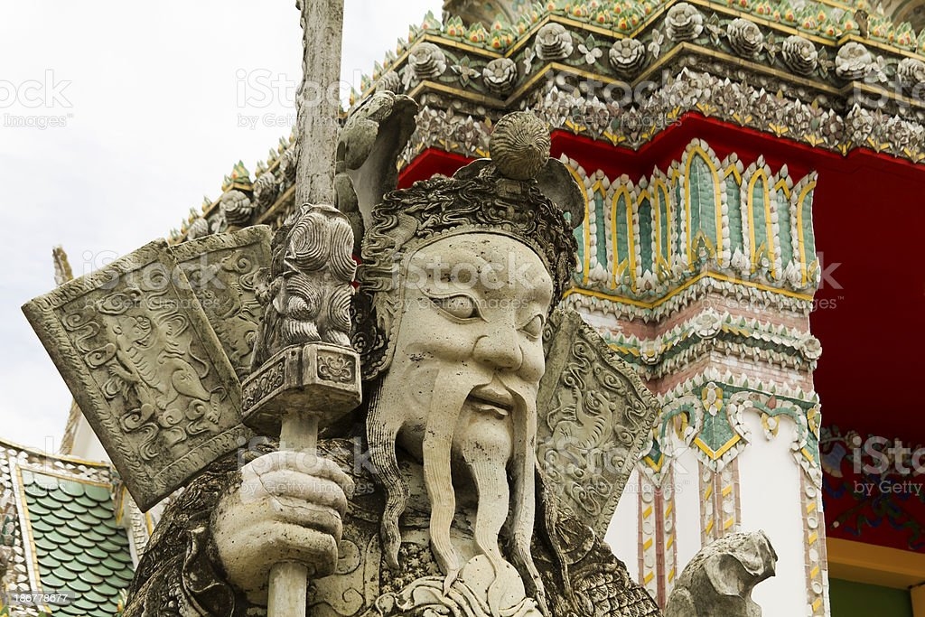 Temple guard bangkoks grand palace royalty-free stock photo