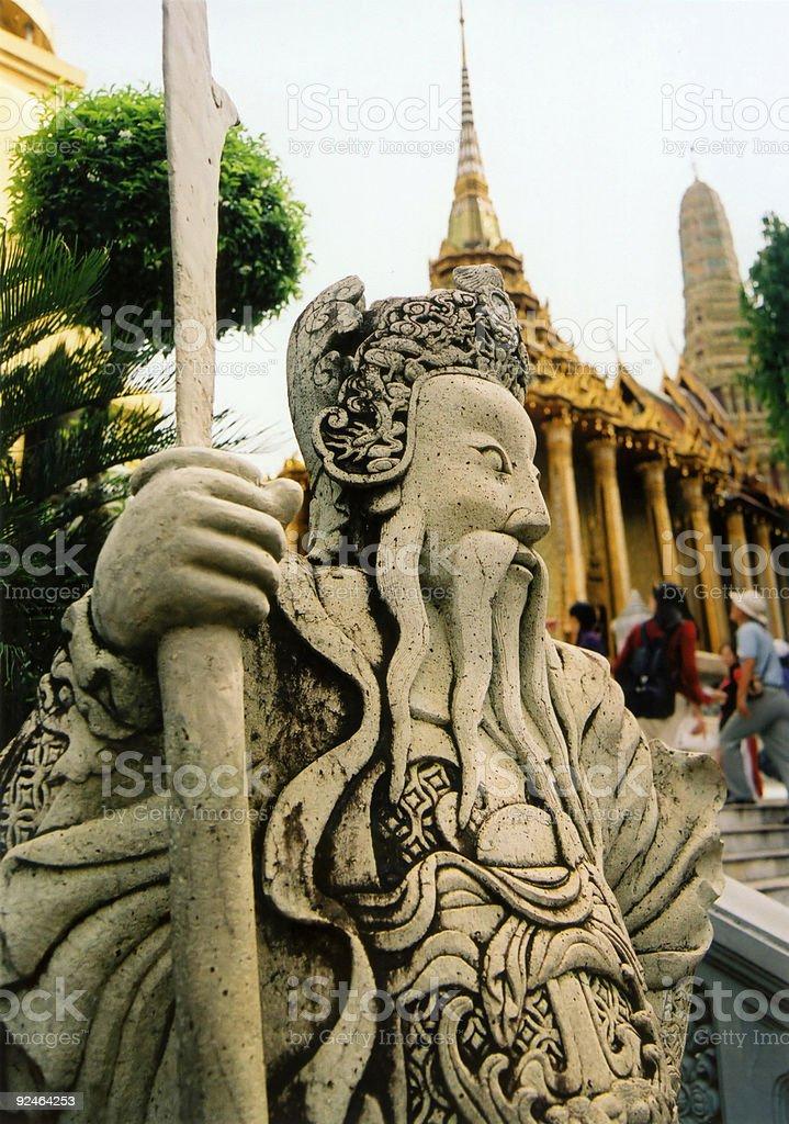 temple guard bangkoks grand palace royalty-free stock photo