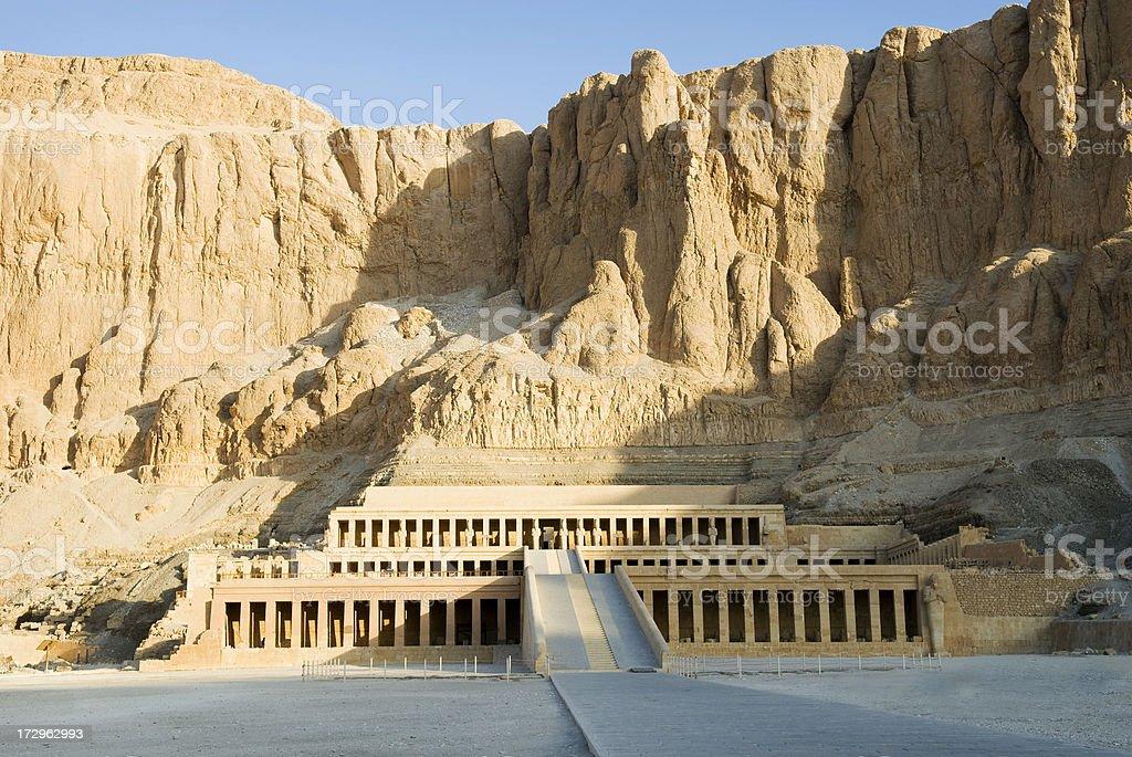 Temple Hatshepsut Free of Tourist royalty-free stock photo