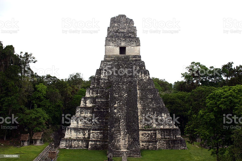 Temple II at Flores royalty-free stock photo