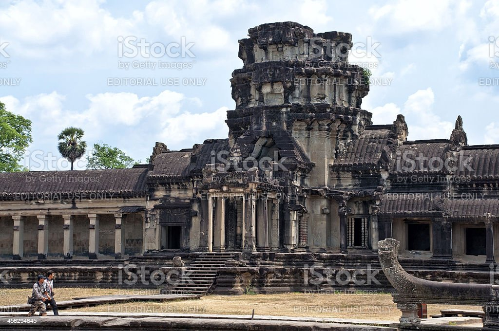 Temple in Angkor Wat, Cambodia royalty-free stock photo