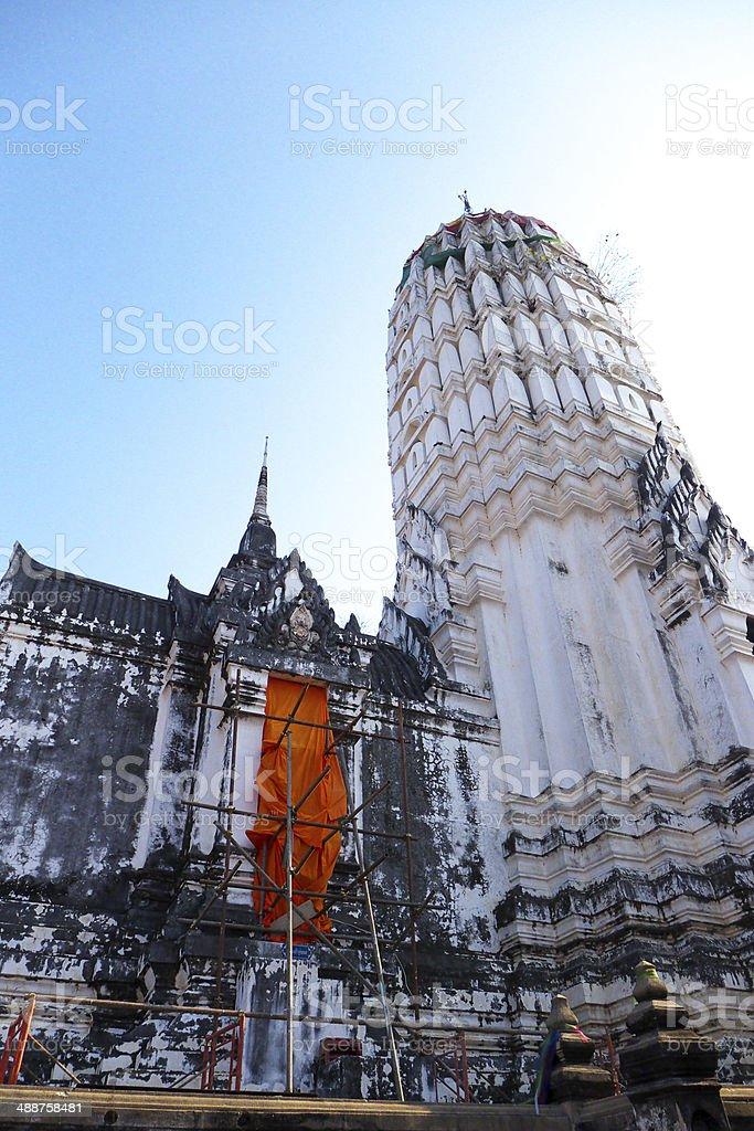 Temple in Ayuddhaya royalty-free stock photo