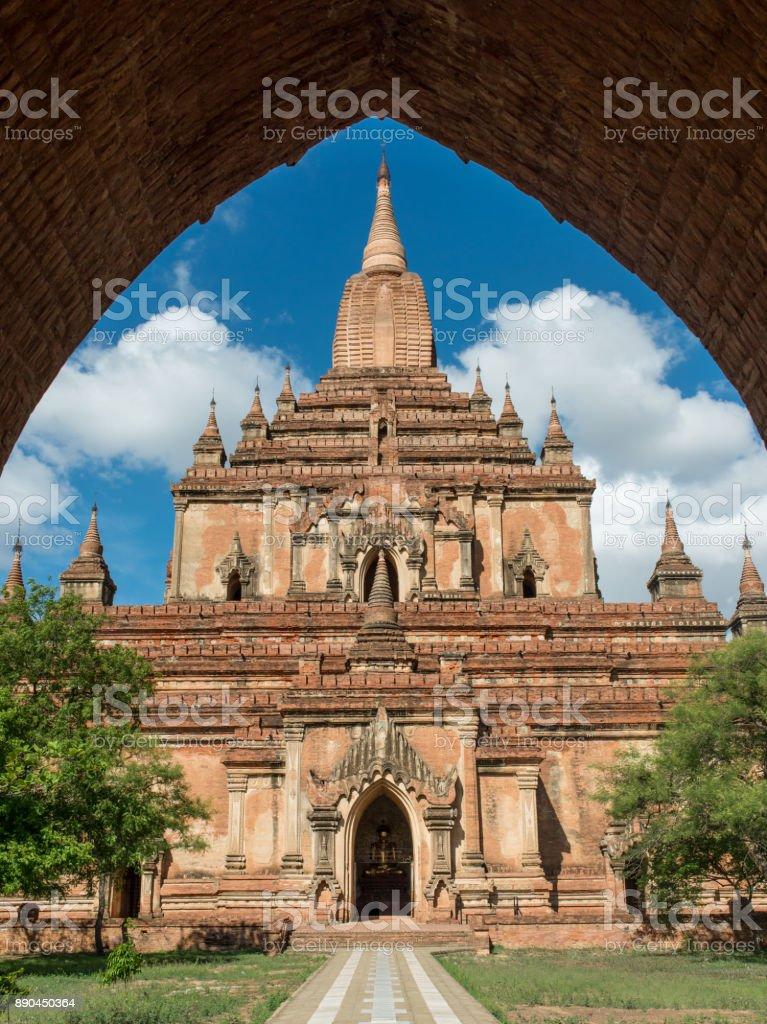 Temple in Bagan Myanmar stock photo