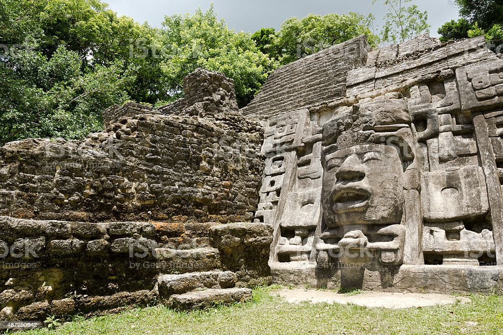 Temple in Belize stock photo
