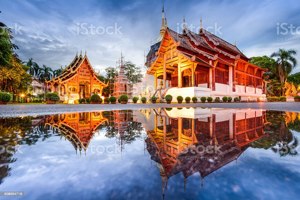 Temple in Chiang Mai stock photo