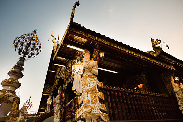 Temple in Chiang Rai, Thailand stock photo