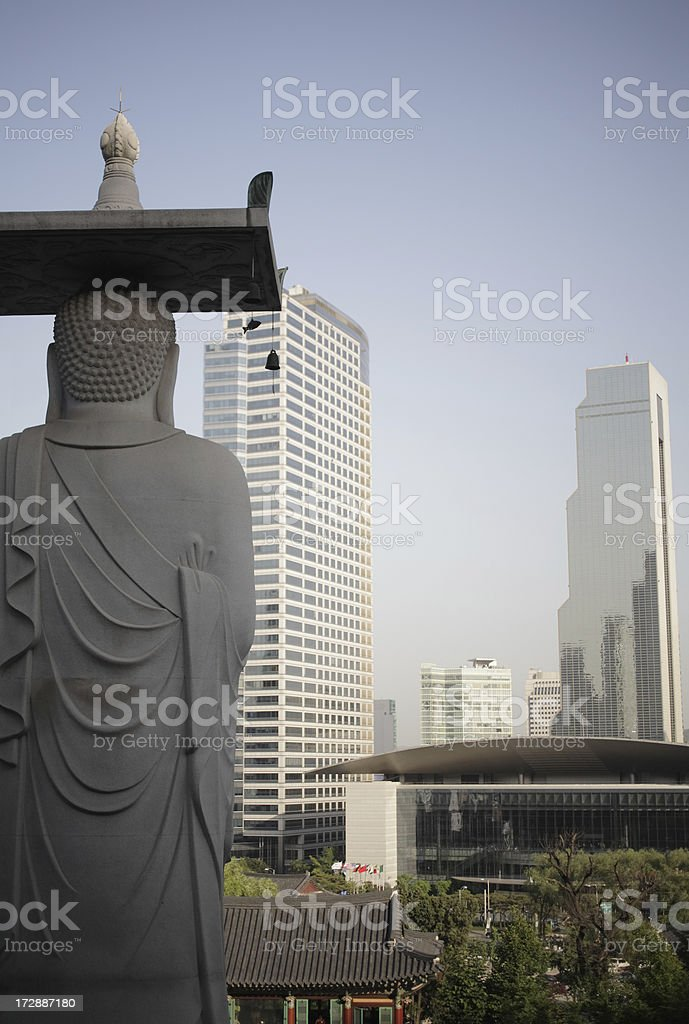 Temple in City royalty-free stock photo