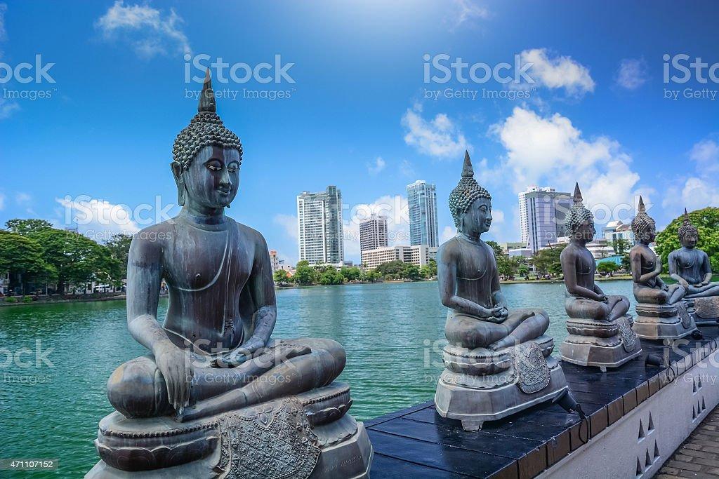 Temple in Colombo, Sri Lanka stock photo