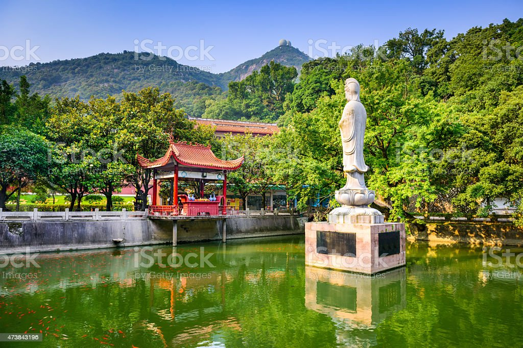 Temple in Fuzhou stock photo
