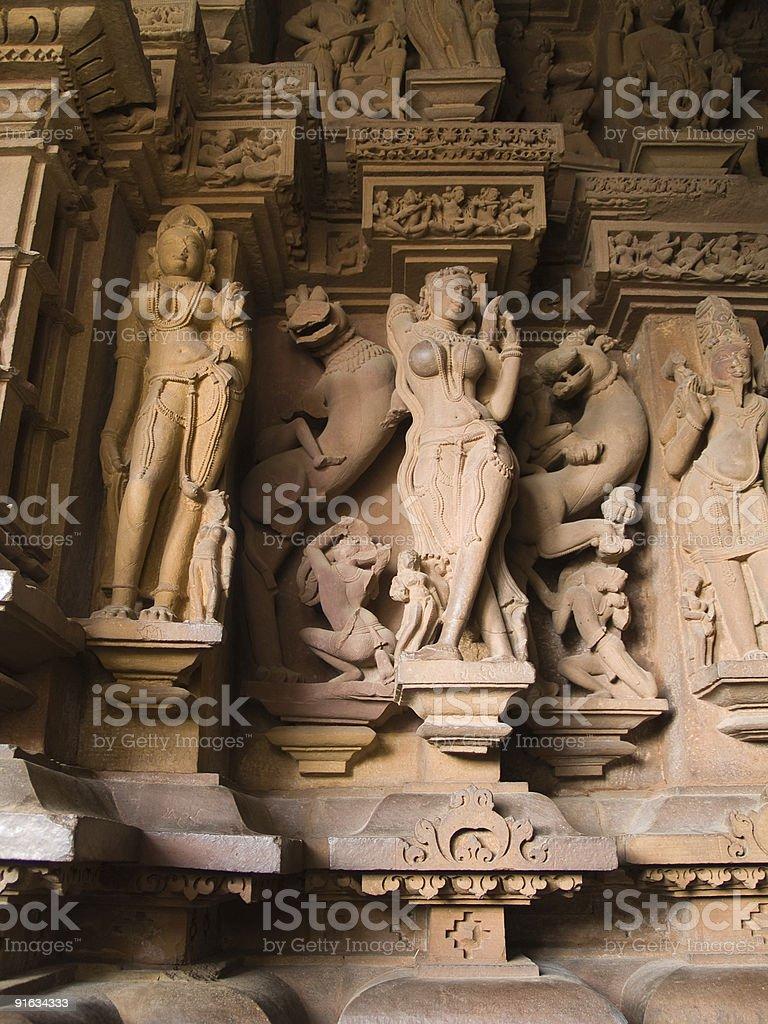 Temple in Khajuraho royalty-free stock photo