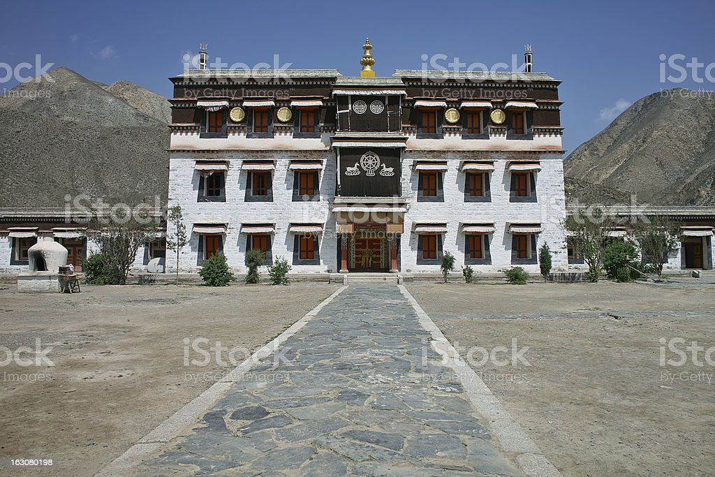 temple in Labrang Monastery royalty-free stock photo