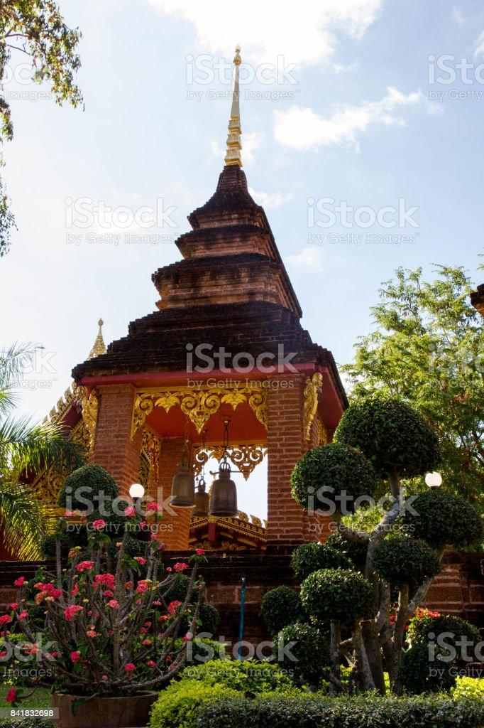 temple in loei stock photo