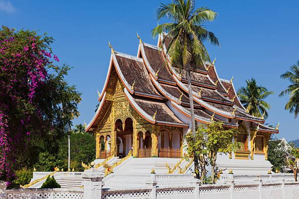 Temple in Luang Prabang Museum, Laos stock photo