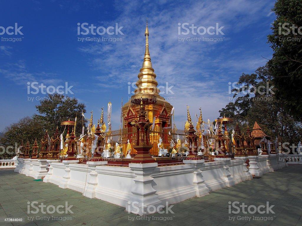 Temple in Mae Sai, Thailand stock photo