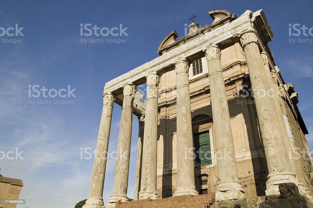 Temple in Roman Forum royalty-free stock photo
