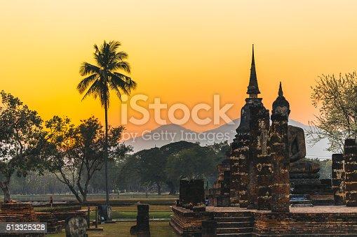Buddha statue in Sukhothai, Thailand.