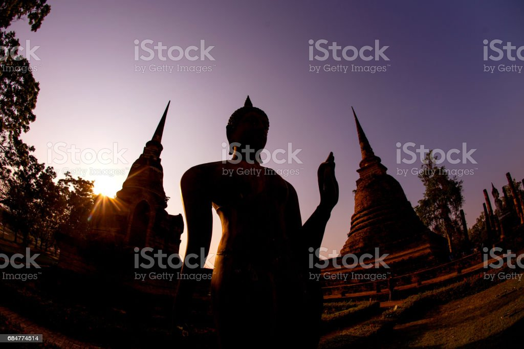 Temple in Sukhothai, Thailand stock photo