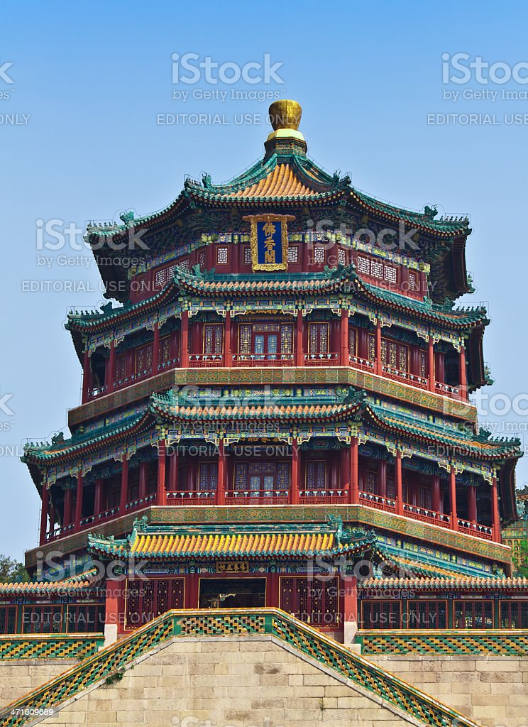 Temple in Summer Palace stock photo