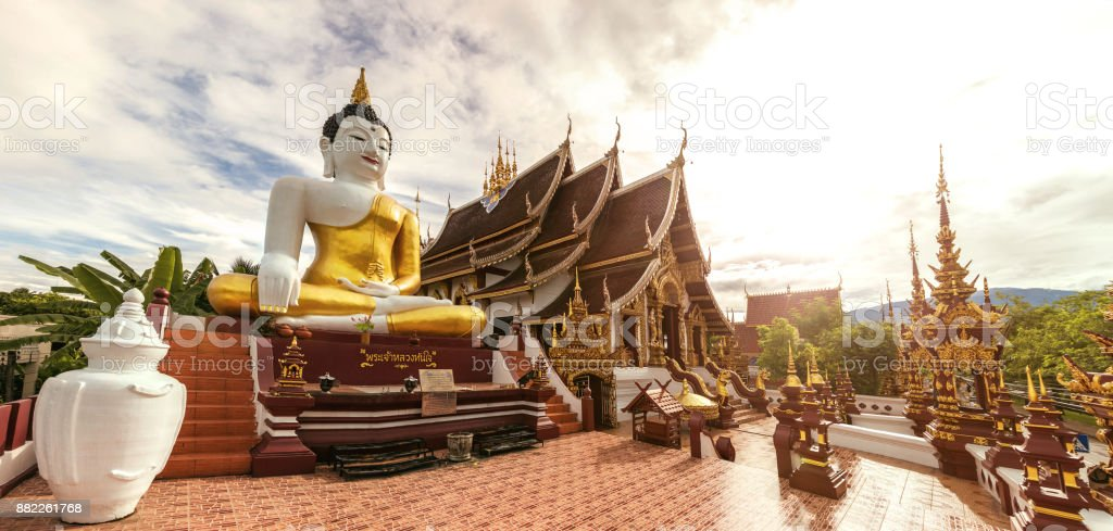 Temple in Thailand - Chiang Mai stock photo