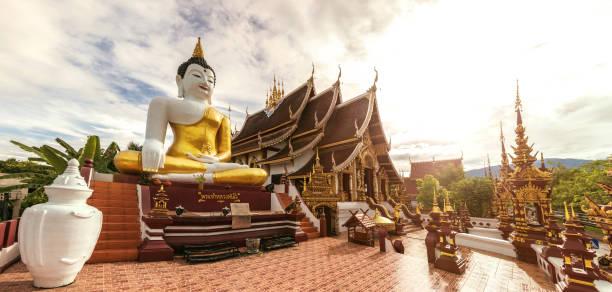 templo da tailândia - chiang mai - sukhothai - fotografias e filmes do acervo