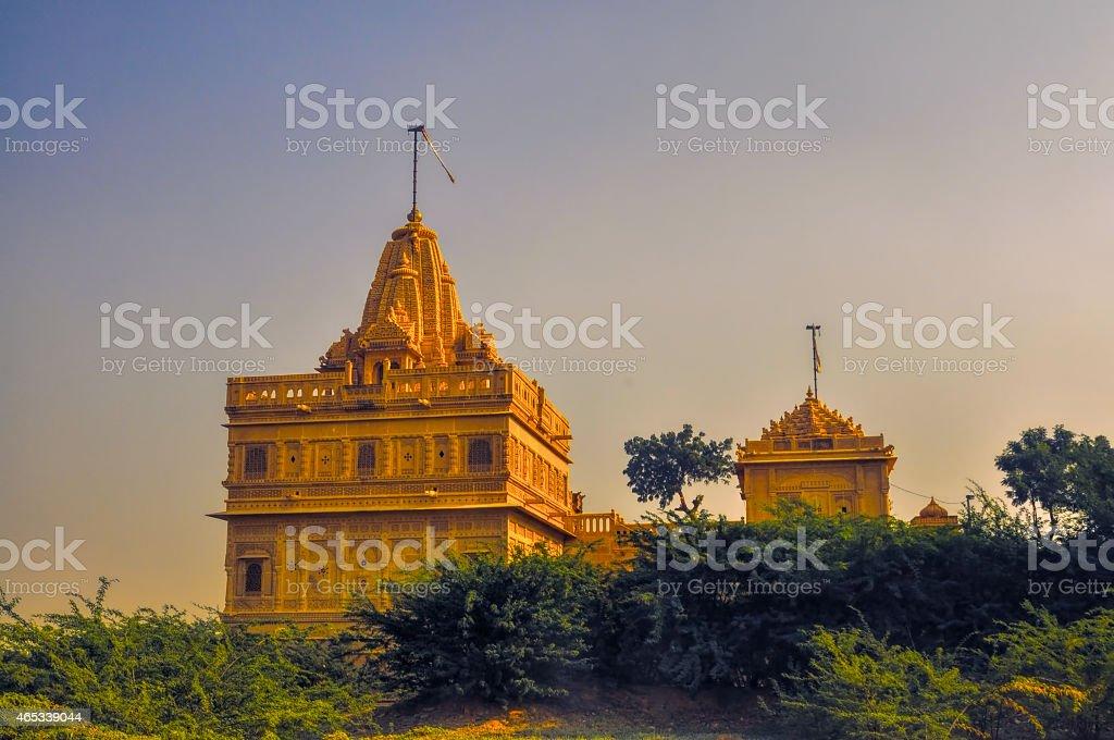 Temple in Thar Desert stock photo