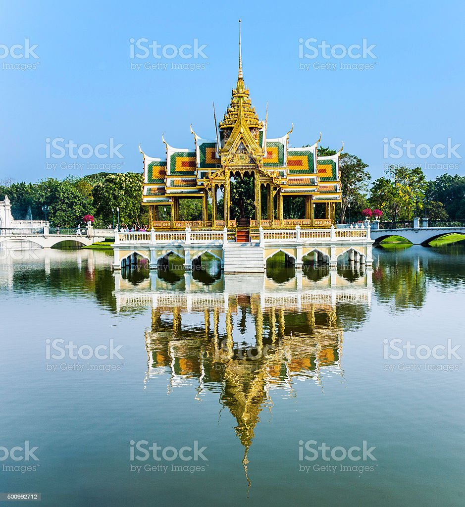 temple in the summer palace bang pa in stock photo