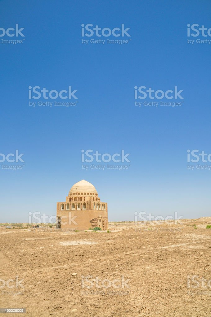 Temple in Turkmenistan stock photo