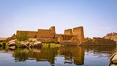 Temple is Aswan Egypt along the Nile Riveer