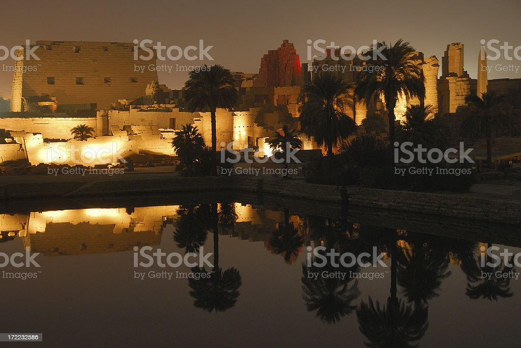 Temple Karnak 04 stock photo