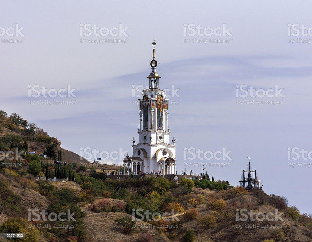Temple Lighthouse Church. Crimea royalty-free stock photo