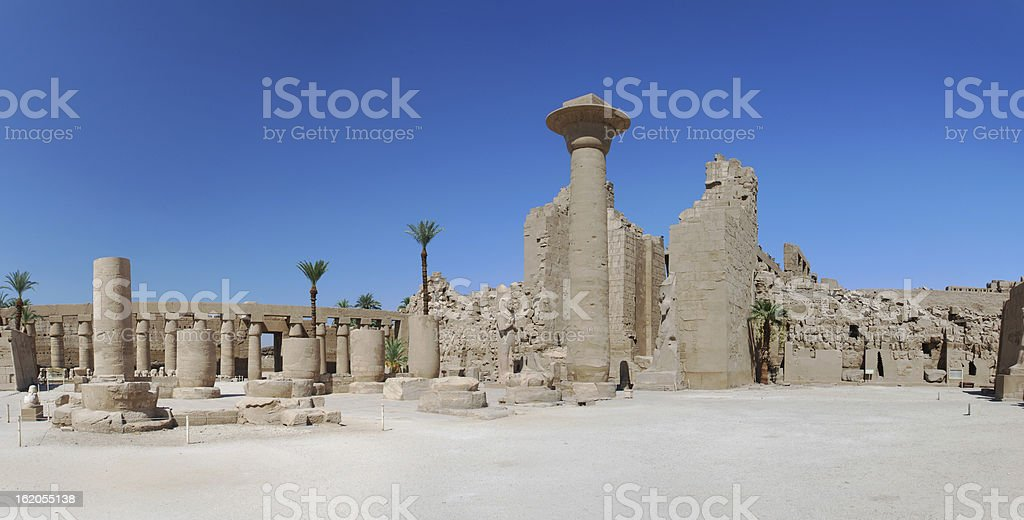 temple luxor egypt panorama royalty-free stock photo