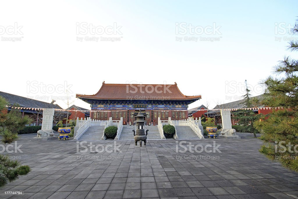 temple main hall in China royalty-free stock photo