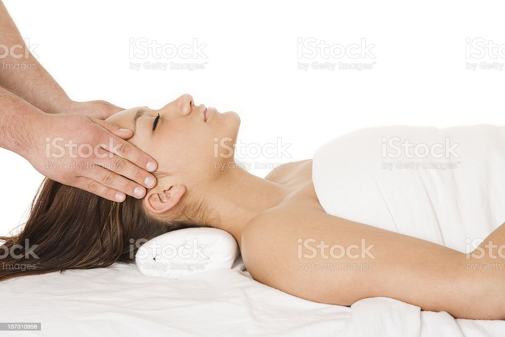 Temple Massage royalty-free stock photo