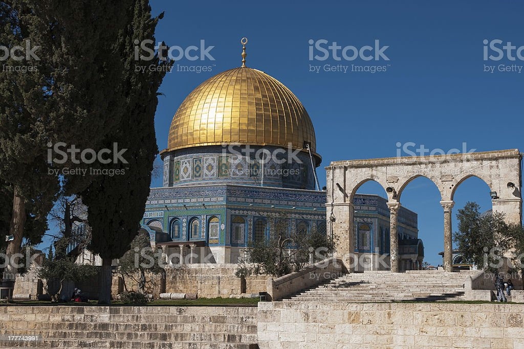 Temple mount in Jerusalem royalty-free stock photo
