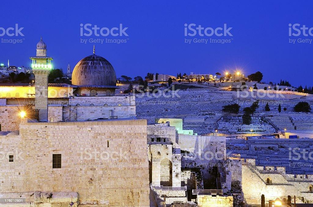 Temple Mount of Jerusalem stock photo