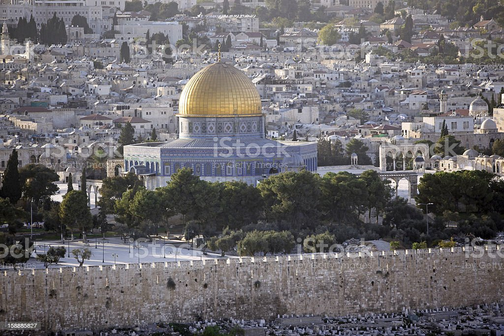 Temple Mount with Dome of the Rock royalty-free stock photo