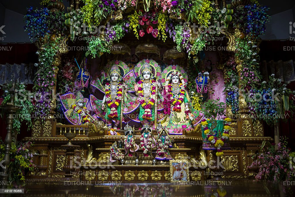ISKCON Temple, New Delhi - CNGLTRV1109 stock photo