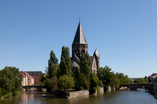 Temple Nine In Metz Stock Photo - Download Image Now