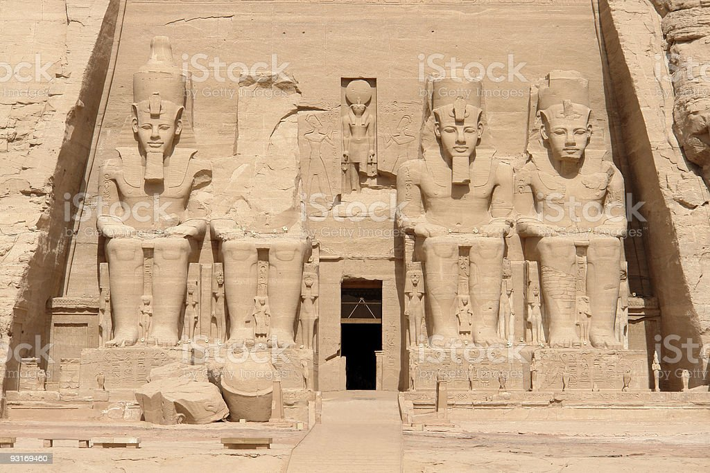 Temple of Abu Simbel stock photo
