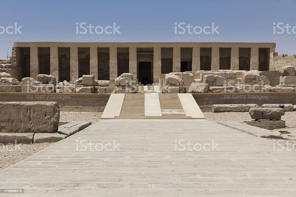 Temple of Abydos stock photo