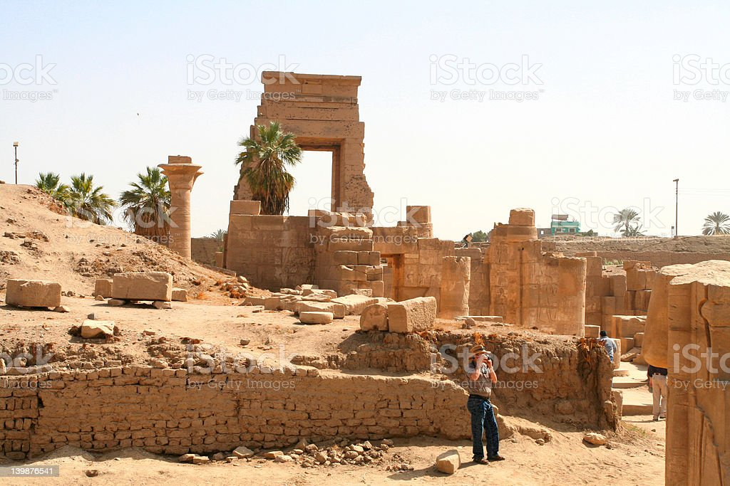 Temple of Amenophis IV (Akhenaten) stock photo