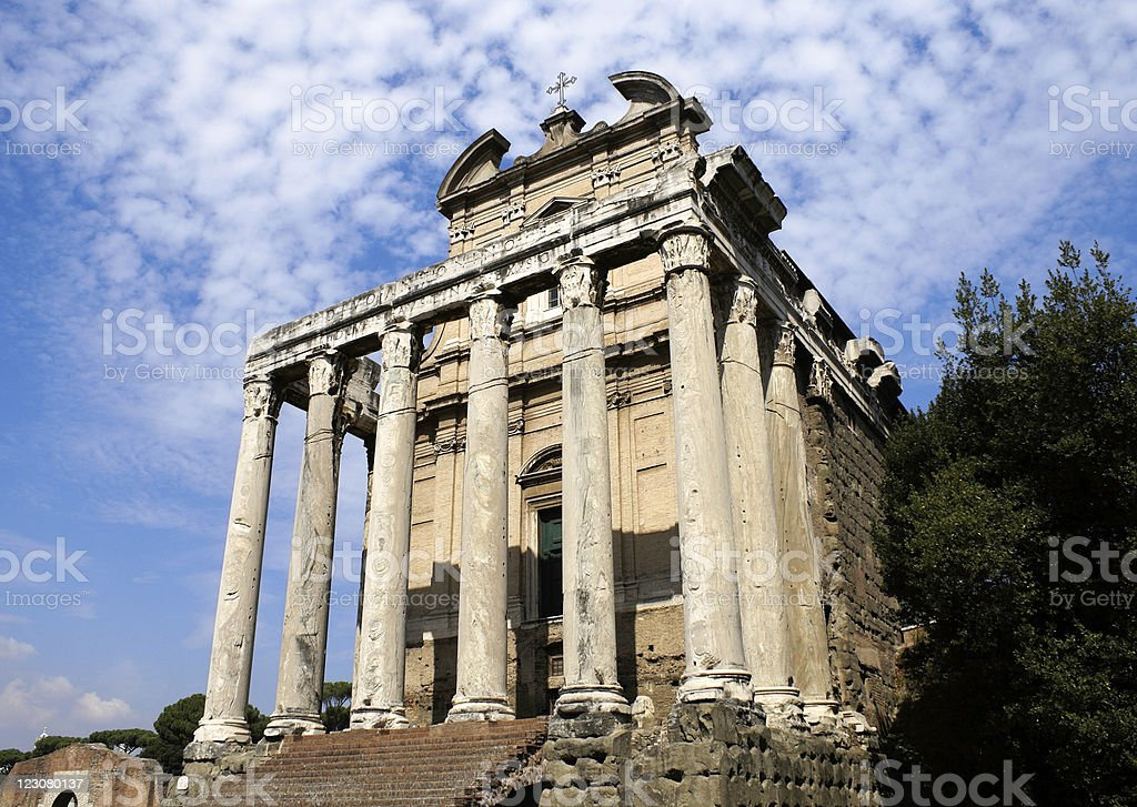 Temple of Antoninus and Faustina. royalty-free stock photo
