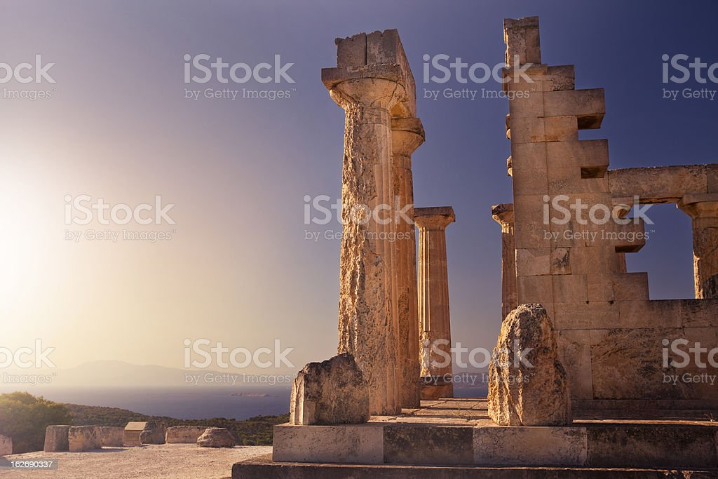 Temple of Aphaia stock photo