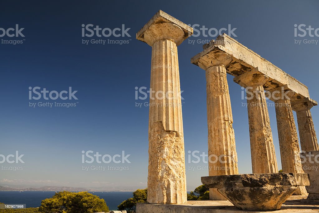 Temple of Aphaia royalty-free stock photo