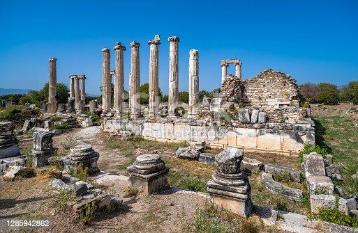 istock Temple of Aphrodite in Aphrodisias ancient city, Aydin, Turkey. 1285942862
