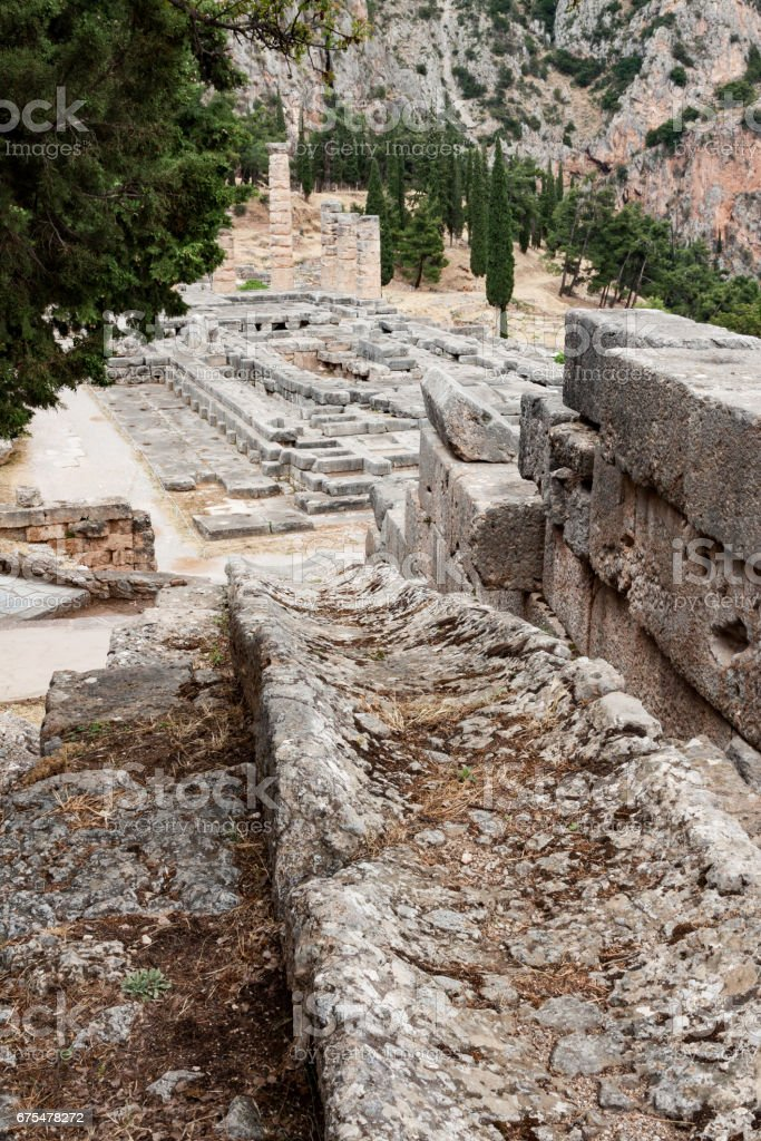 Delphi'de Apollon Tapınağı royalty-free stock photo