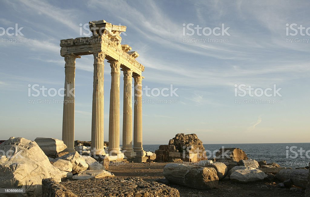 Temple of Apollo at Side in Turkey royalty-free stock photo